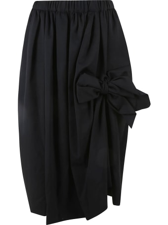 Comme des Garçons Comme des Garçons Elastic Waist Bow Detail Skirt