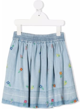 Stella McCartney Kids Lyocell Embroidered Skirt
