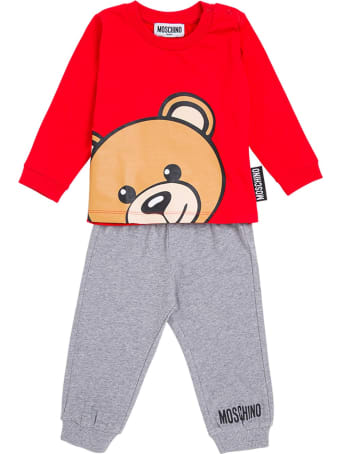 Moschino Coordinated Cotton Suit With Logo Print
