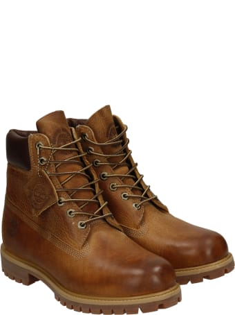 Timberland Combat Boots In Leather Color Leather