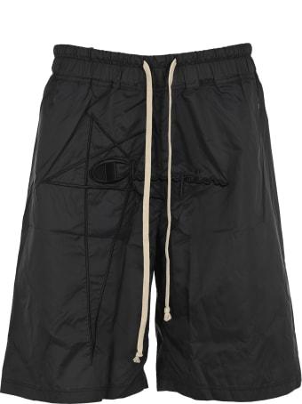 Rick Owens x Champion Embroidered Logo Shorts