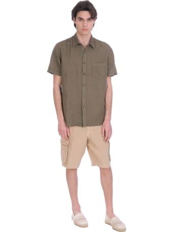 120% Lino Shorts In Beige Linen