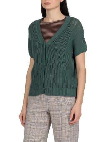 Peserico Cotton Sweater With Sequins