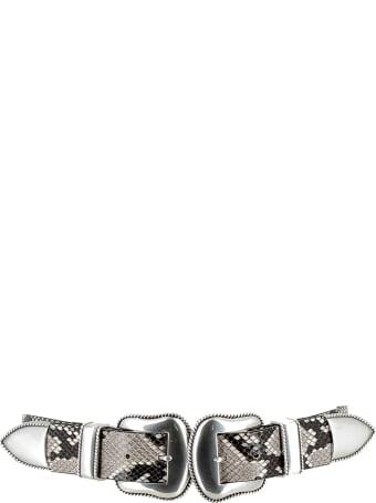 B-Low the Belt White/silver Belt