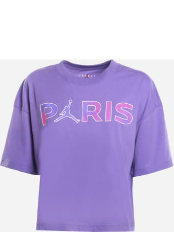 Jordan Jordan X Paris Saint-germain Cotton T-shirt With Logo Print