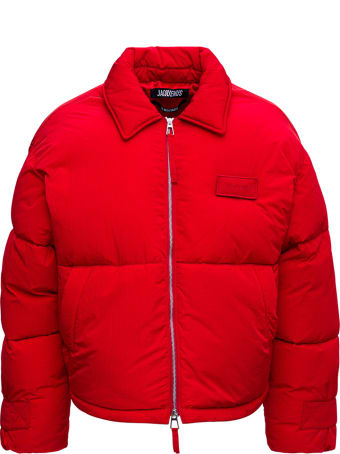 Jacquemus La Doudoune Flocon Red Nyon Down Jacket