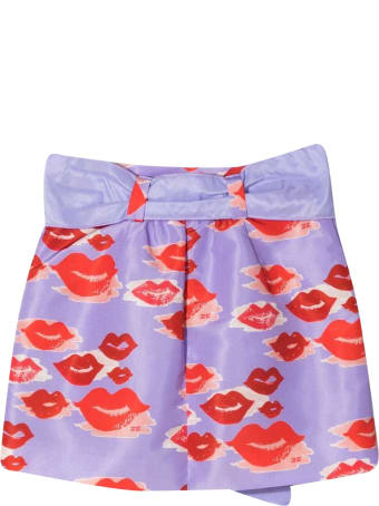 Elisabetta Franchi La Mia Bambina Miniskirt With Elisabetta Franchi My Girl Print