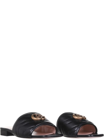 Gucci Double G Black Sandal
