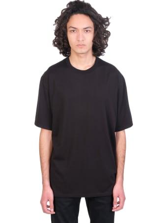 Attachment T-shirt In Black Cotton