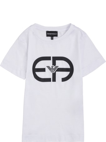 Emporio Armani Cotton Blend T-shirt With Logo Print