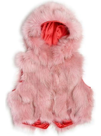 Mr & Mrs Italy Gilet Minissimo Pink Fluff