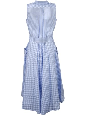 Sara Roka Checked Chemisier Dress