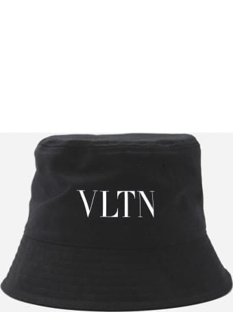 Valentino Garavani Bucket Hat In Cotton With Vltn Print