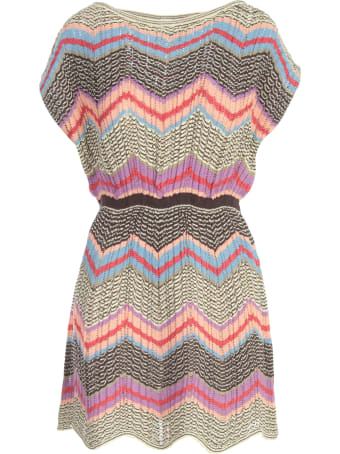M Missoni Down Sleeves Mini Dress