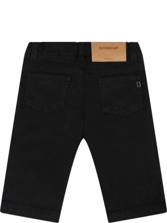 Dondup Black Jeans For Baby Boy
