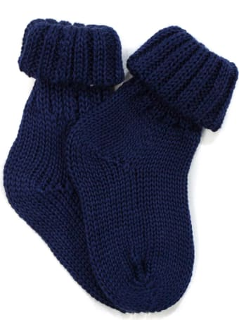 Little Bear Blue Cotton Socks