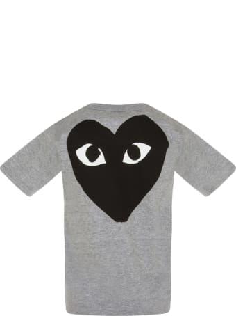Comme des Garçons Play Grey T-shirt For Kids