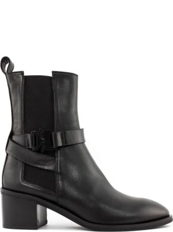 Roberto Festa Lauda Ankle Boot In Black Leather