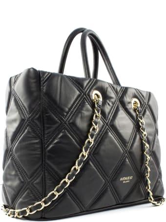 Avenue 67 Leila Black Leather Shoulder Bag