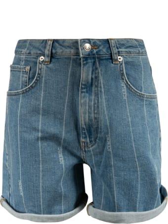 Iceberg Stripe Denim Shorts