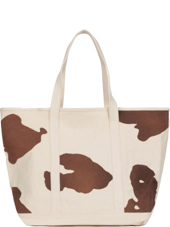 The Animals Observatory Ivory Bag For Kids With Yellow Logo