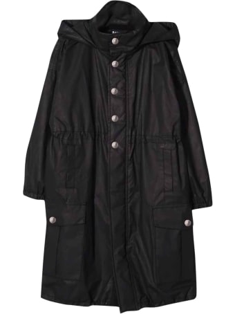 Balmain Black Teen Trench Coat