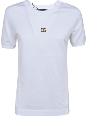 Dolce & Gabbana Logo Plaque Plain T-shirt