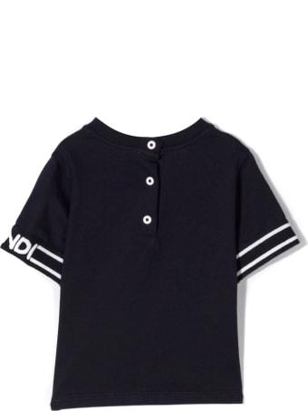 Fendi Navy Cotton T-shirt