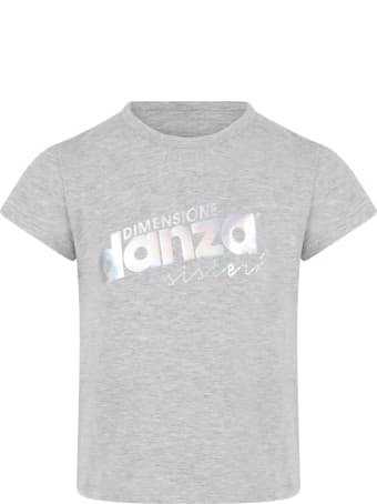Dimensione Danza Grey T-shirt With Logo For Girl