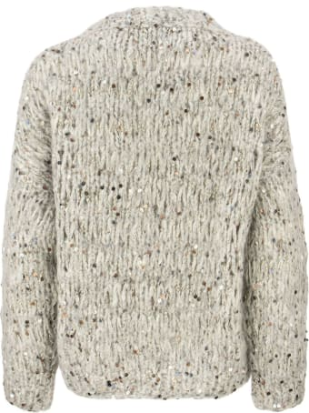 Brunello Cucinelli Mohair And Cotton Sweater With Sequins