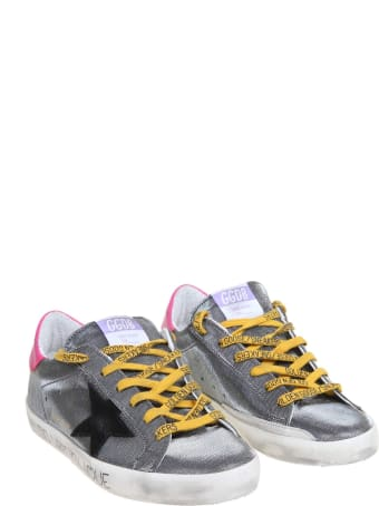 Golden Goose Super Star Sneakers In Laminated Fabric