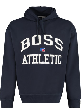 Russell Athletic Logo Detail Cotton Sweatshirt - Boss X Russell Athletic