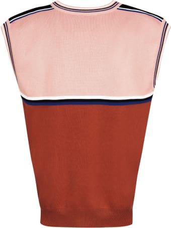 Plan C Striped Edges Knit Vest