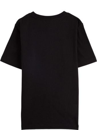 Burberry Black Jersey Tee With Logo