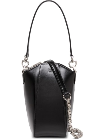 Givenchy Antigona Vertical Crossbody Bag In Black Leather