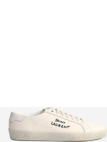 Saint Laurent Court Sl / 06 Sneakers In Cotton