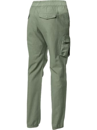 John Elliott Green Cotton Cargo Trousers