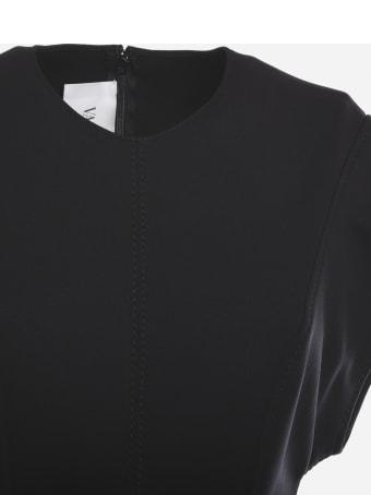 Valentino A-line Dress With V-logo Belt