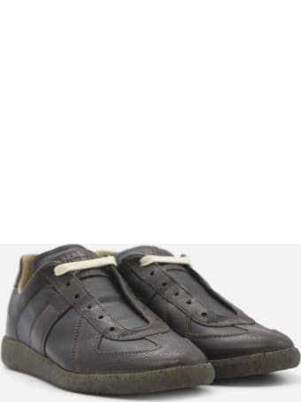 Maison Margiela Two-tone Replica Leather Sneakers