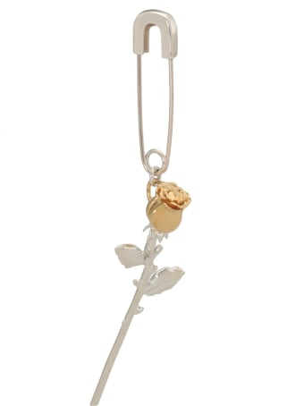 AMBUSH Rose Charm Safety Pin Earring