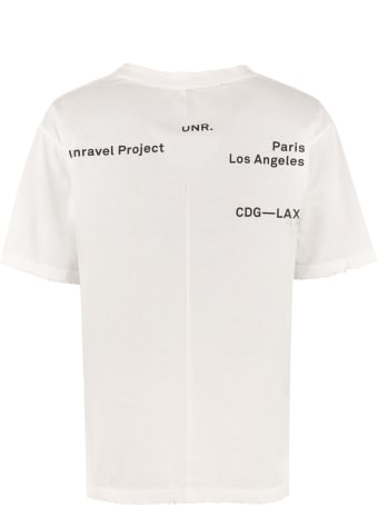 Ben Taverniti Unravel Project Logo Print Cotton T-shirt