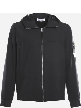Stone Island Technical Fabric Jacket With Logo Patch