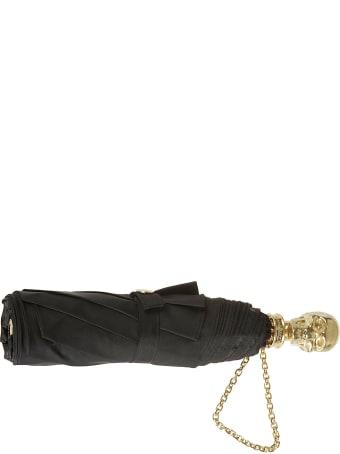 Alexander McQueen Skull Folding Gold Chain Umbrella