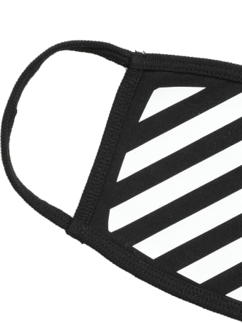 Off-White Diagonal Stripes Face Mask