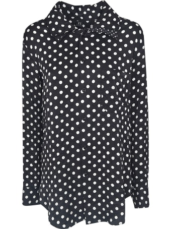 Y's Dotted Print Long Shirt