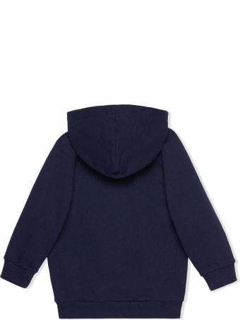 Gucci Dark Blue Felted Cotton Jersey Hoodie