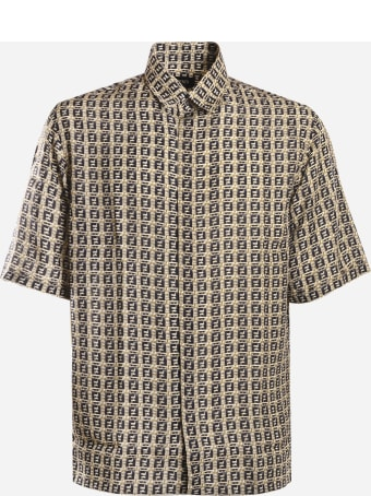 Fendi Oversized Shirt With All-over Ff Motif