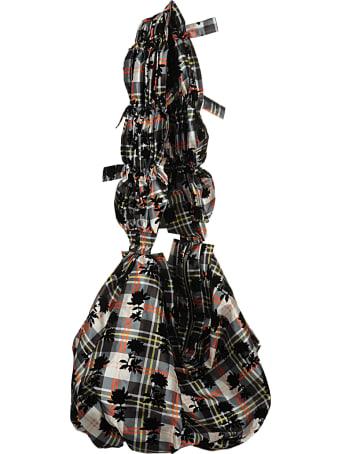 Chopova Lowena Flocked Polyester Bag With Handle