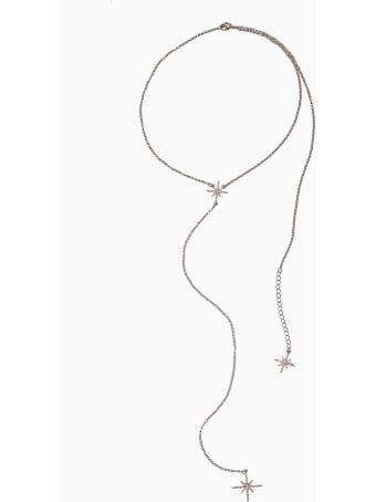 Federica Tosi Lace Back Stars Necklace Silver
