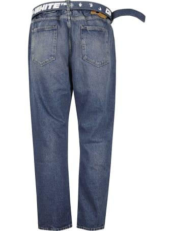 Off-White Belt-slim Low Crotch Jeans